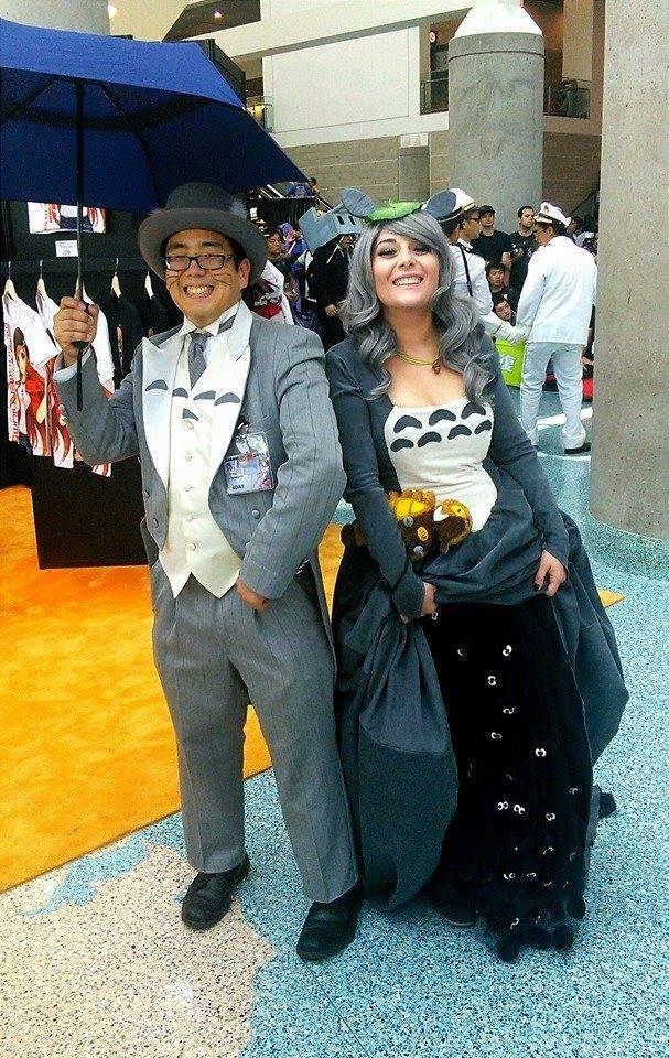 Totoro-inspired cosplay