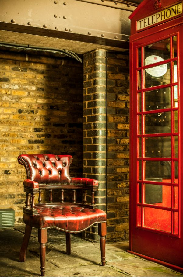 What would a location shot in London be without a shot of a Telephone Box.
