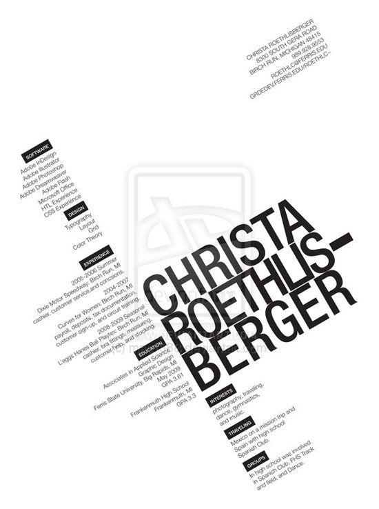 57 best Resumé CV images on Pinterest Resume, Creative - concessions manager sample resume