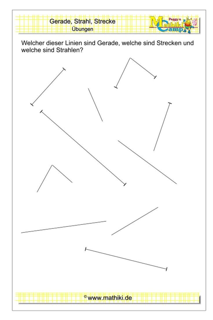 Geraden, Strahlen und Strecken (Klasse 5/6) - mathiki.de in 2020 | Matheaufgaben, Geometrie, Mathe