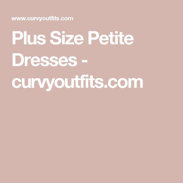 Plus Size Petite Dresses - curvyoutfits.com