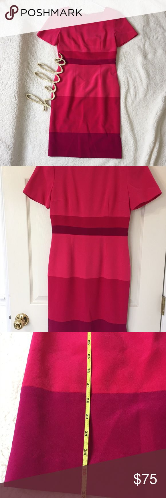 Maggy London Petites Pink Dress Super Stylish structured Maggy London Dress. It has shoulder pads and long back zipper. Very good condition except tiny thread pop up in the back of the Dress. Maggy London Dresses