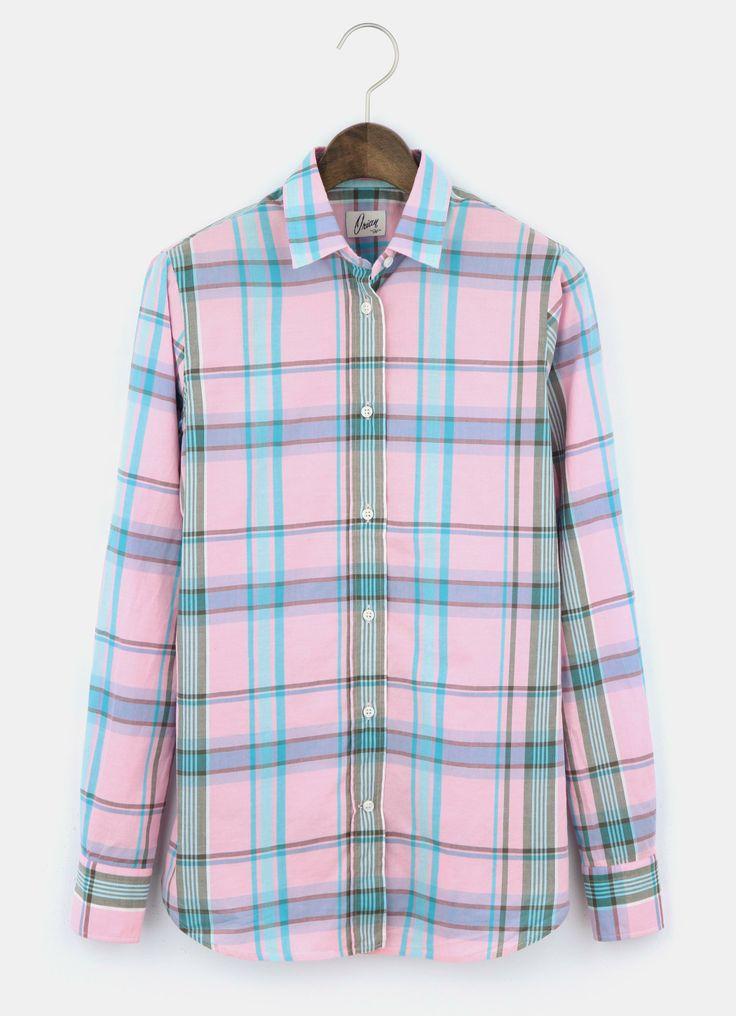 PLST ORIAN チェック柄コットンシャツ