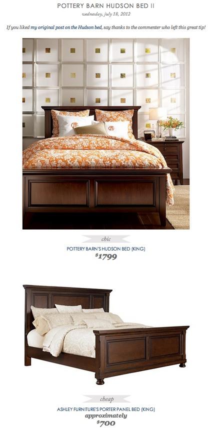 POTTERY BARN HUDSON BED II vs ASHLEY FURNITURE'S PORTER PANEL BED