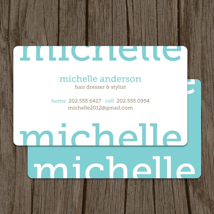 modern business card  aqua business card