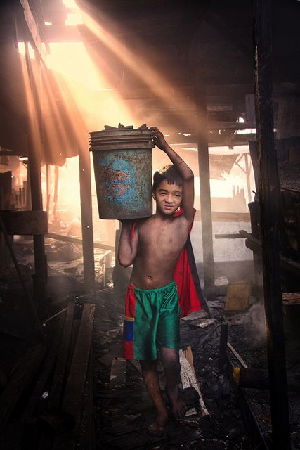 Childhood Lost -- Charcoal factory -- Manila Philippines