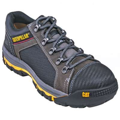 Caterpillar Shoes: 90603 Steel Toe Convex Men's Dark Grey Shoes