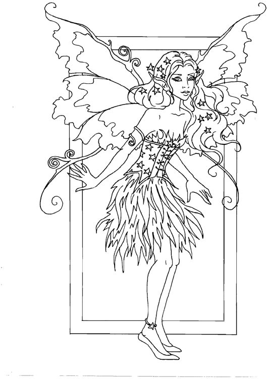 cute fairies coloring pages - photo#42