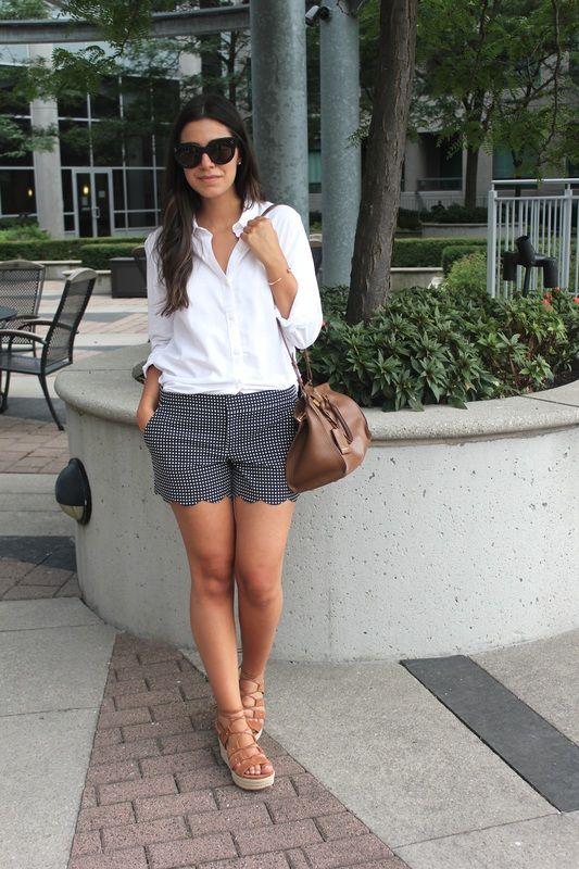 gray shorts white blouse - Поиск в Google