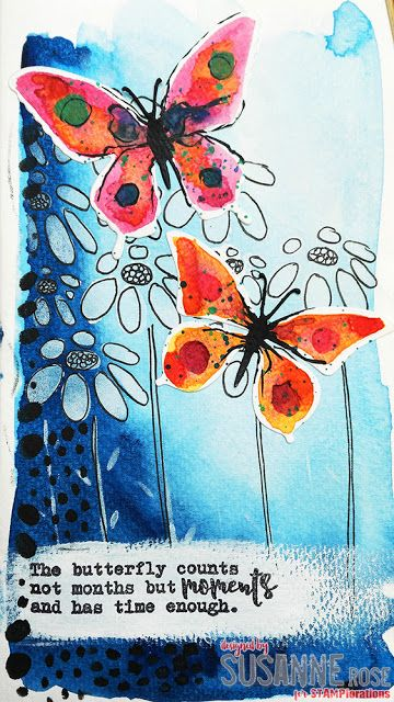 Susanne Rose Designs: ARTplorations Stencil Blog Hop - Watercolor Art Journal Page