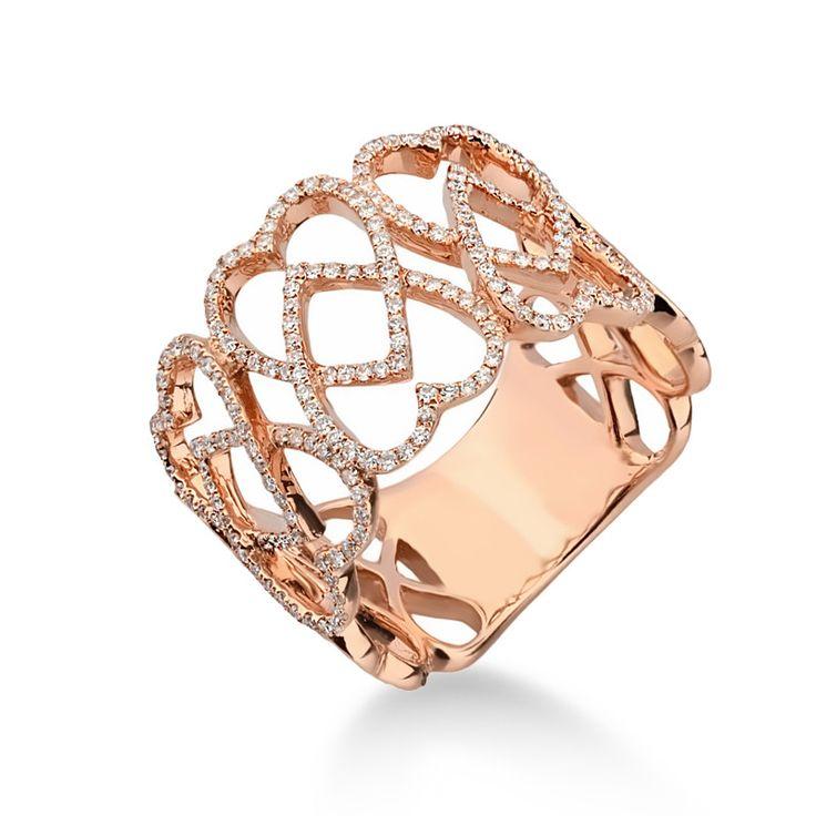 Inel aur si diamante DIHK00052 ‐ Bijuteria Teilor