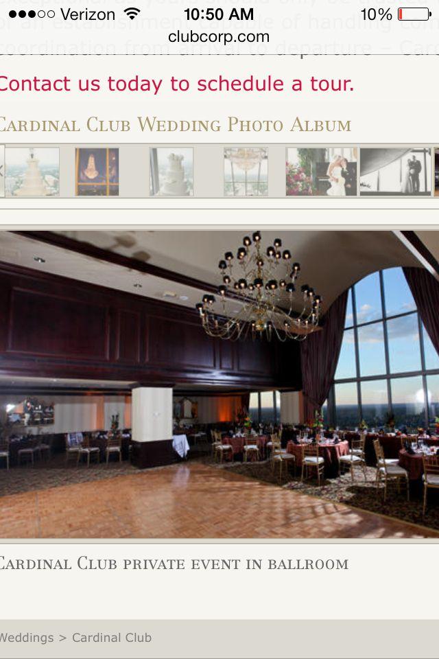 The Cardinal Club...nice venue for wedding