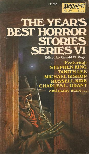 297 Gerald W. Page Year's Best Horror Stories: VI Michael Whelan Jul-78 Reprint Anthology.#