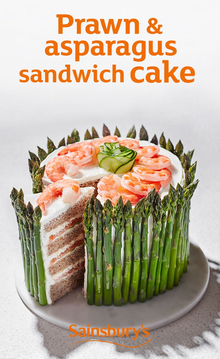 It's a sandwich, but not as we know it. Bring out this show stopper prawn and asparagus cake for your next tea party.