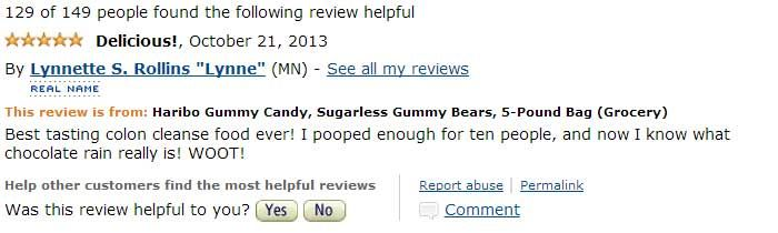 Beware Of The 5 lb. Bag Of Sugarless Gummy Bears On Amazon.com – The Reviews Are Priceless!   Slightly Viral