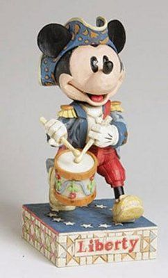 """Owned.  Minuteman Mickey Mouse with flag """"LIBERTY"""" figurine"""