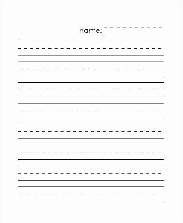 Printable Kindergarten Writing Paper New Sample Lined Paper 7 Documents In  Pdf Word Writing Paper Template, Lined Writing Paper, Kindergarten Lined  Paper
