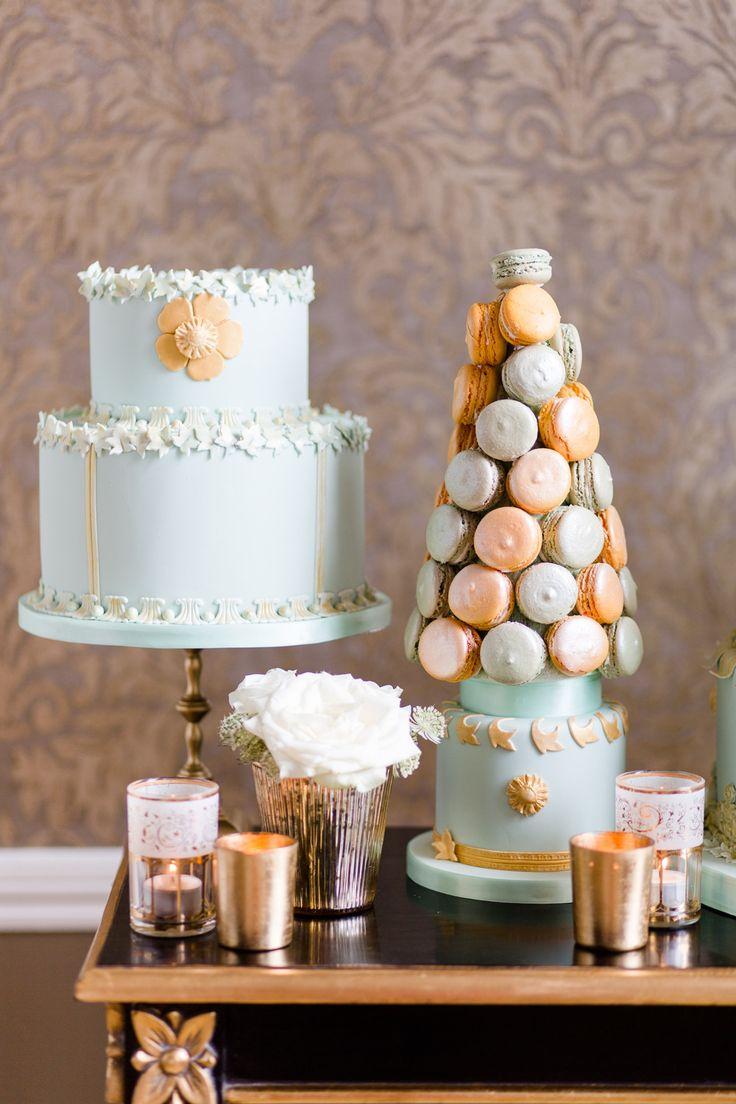 Wedding Cake & Macaron Tower
