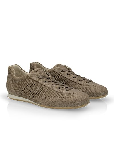 #HOGAN Women's Spring - Summer 2013 #collection: snake print leather OLYMPIA #sneakers.