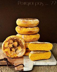 Petits pains au Potimarron cuit à la poêle