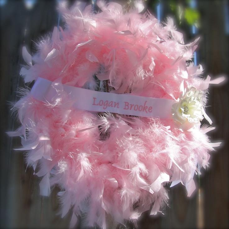 birth wreaths for hospital door | Baby Wreath, custom Pink, Sparkly Princess, hospital door birth ...