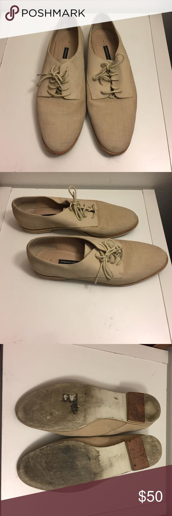 French Connection Beige Loafers French Connection Beige Loafer in size 9.. These are all leather and in good condition, just need a good cleaning. French Connection Shoes Flats & Loafers