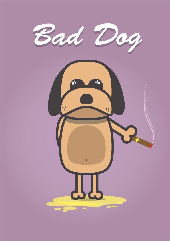 Bad Dog - David Archbold  #graphicdesign #design #art #digital #aminated