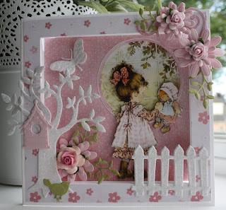 Sarah Kaye frame card ~ Marijke's Blog