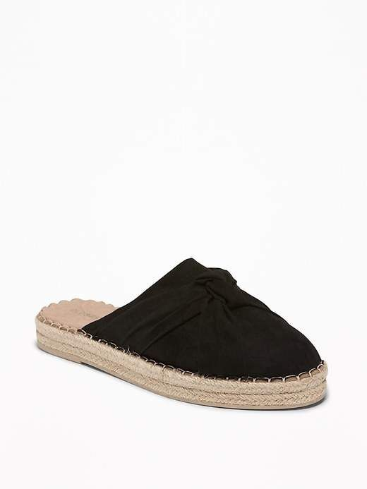 5a18855f616 Knotted Faux-Suede Slide Espadrilles for Women in 2019