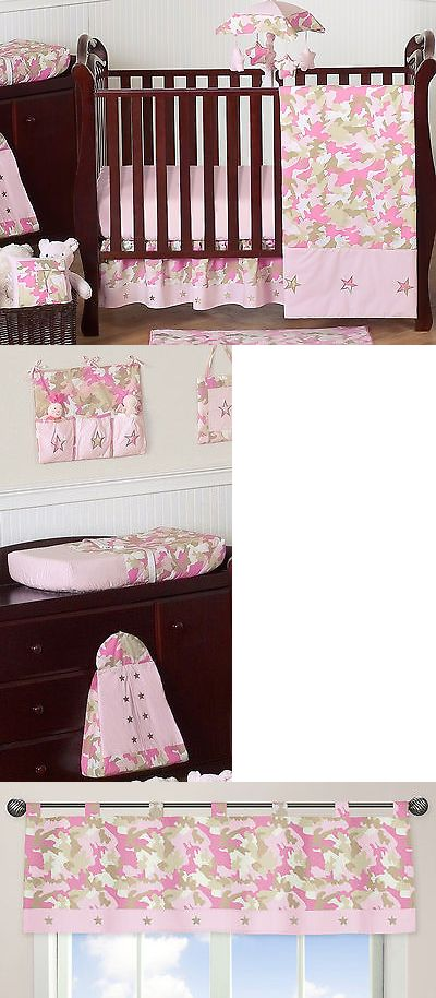 baby kid stuff: Pink And Brown Camouflage Jojo Designs Baby Girl Crib Bedding Set For Newborn -> BUY IT NOW ONLY: $43.99 on eBay!