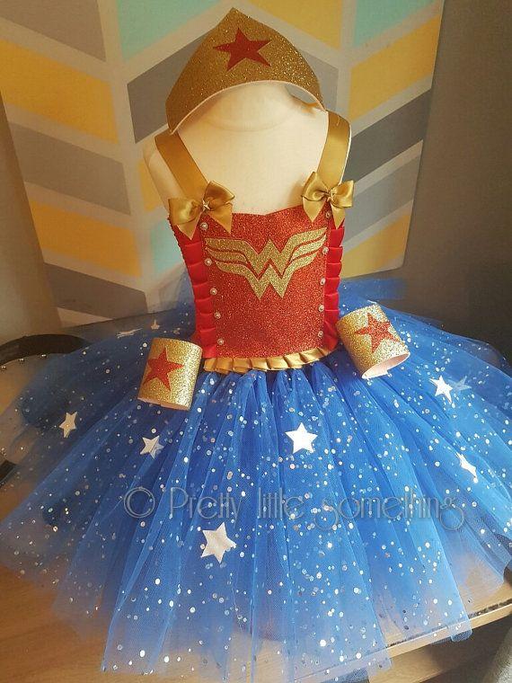 Wonder woman tutu dress fancy dress by LittleSomethingTutus