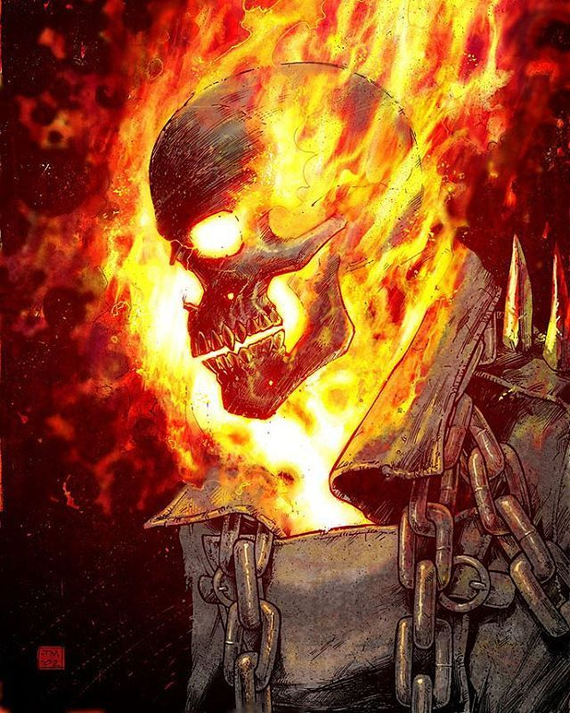 Ghost Rider  by @coloneltonymoore  #ghostrider #johnnyblaze #vengeance…
