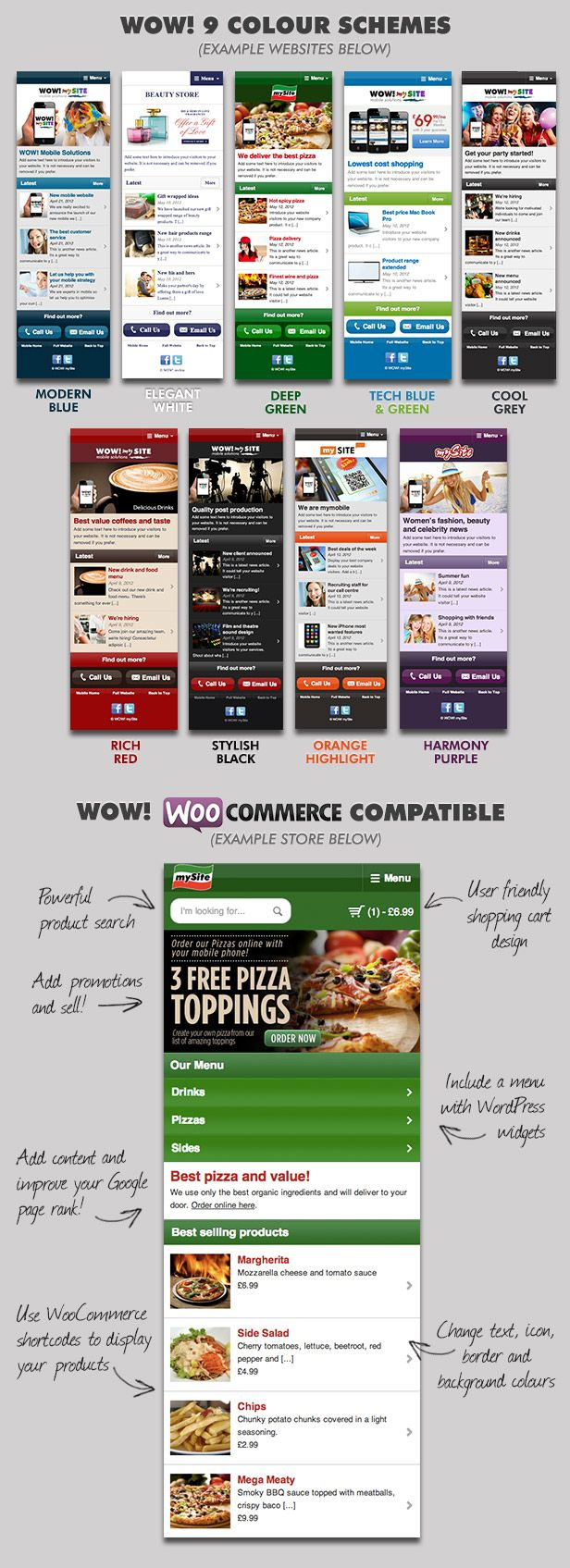 WordPress - WOW! mySite WordPress Mobile Theme | ThemeForest
