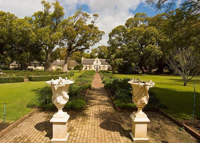 The gardens of Vergelegen Winery near Somerset West, South Africa