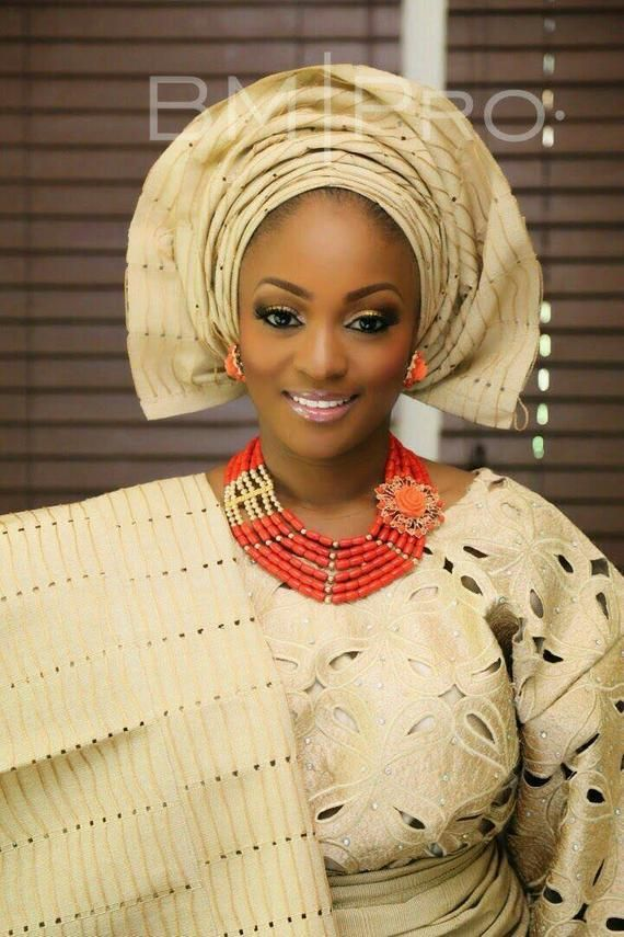 Girls asooke gele headgear iro and buba for Yoruba girl