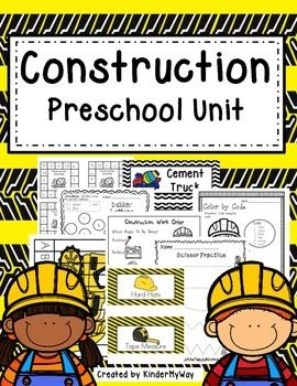This 70 page pack is perfect for any Early Childhood classroom all centered around a construction theme.
