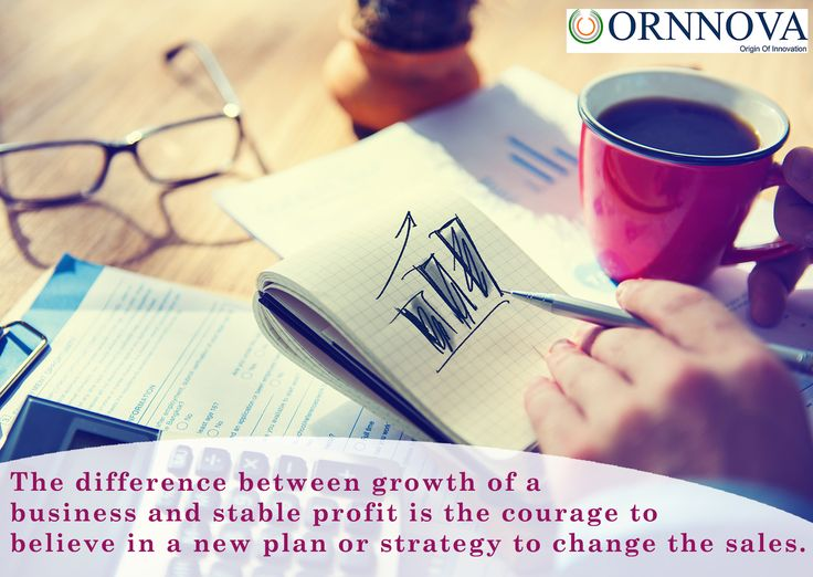 The difference between growth of a #business and stable #profit is the courage to believe in a new #plan or #strategy to change the sales. #Ornnova