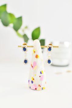 DIY Color Splatter Earring Holder