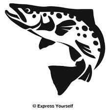 fly fishing stencil - Google Search