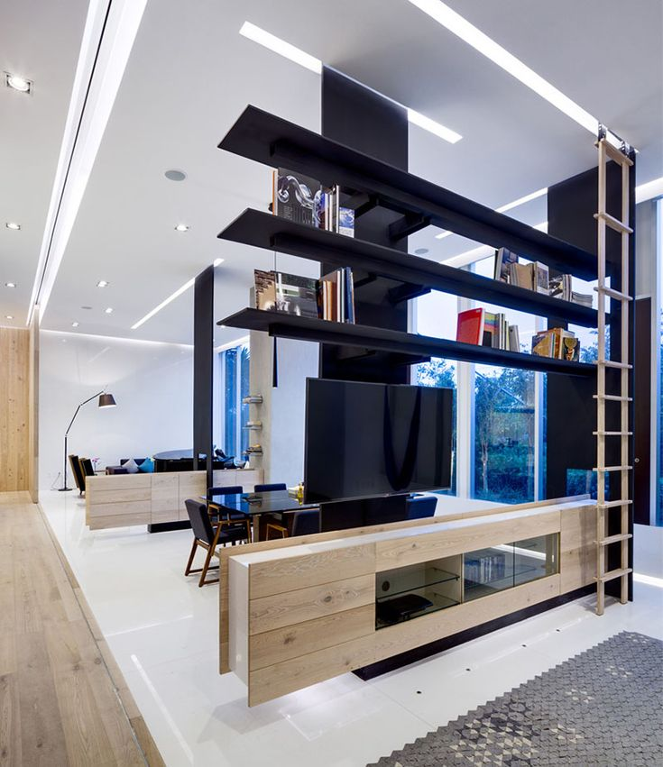 Here is another nice way to define spaces in your home. (More Photos)