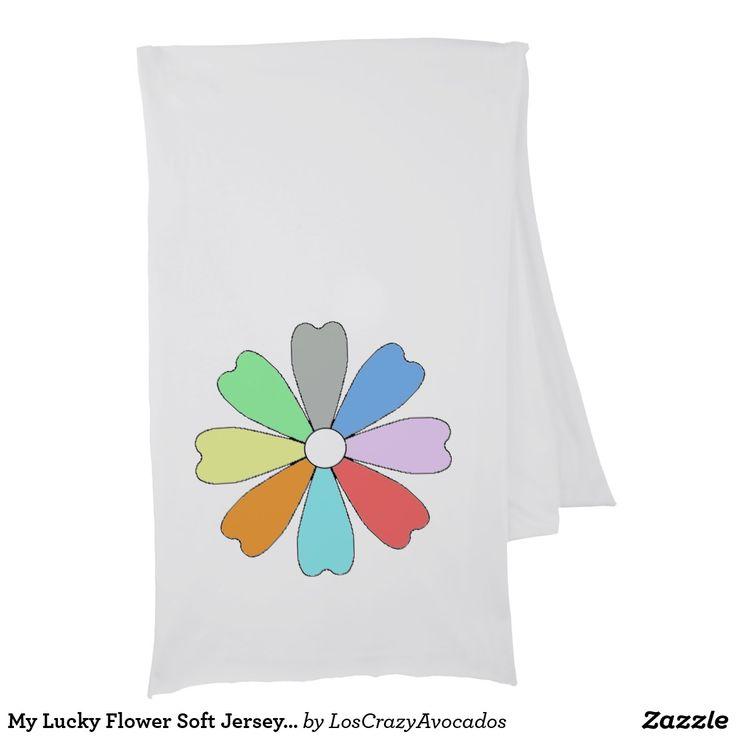 My Lucky Flower Soft Jersey Scarf
