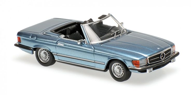 MINICHAMPS 1/43scale Mercedes-Benz 350 SL (R107) 1974 light blue metallic [No.940033430]