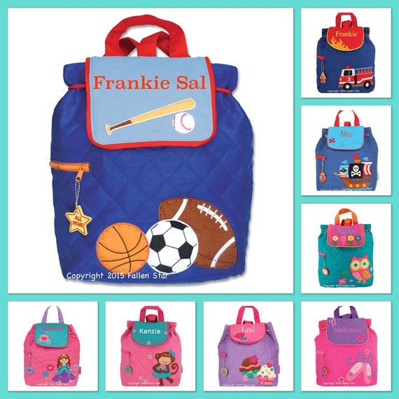 Kids backpack , toddler back back , toy bag , preschool backpack , stephen joseph backpack , personalized kids bag , SPORTS