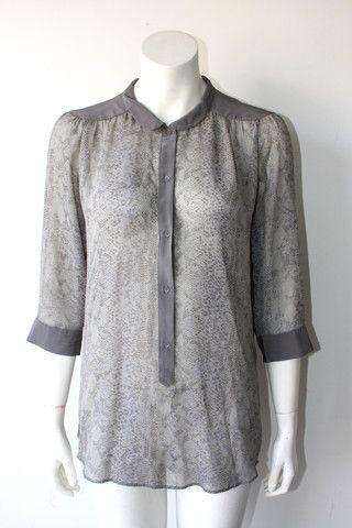 Wilfred Snakeskin Print Silk Blouse $55