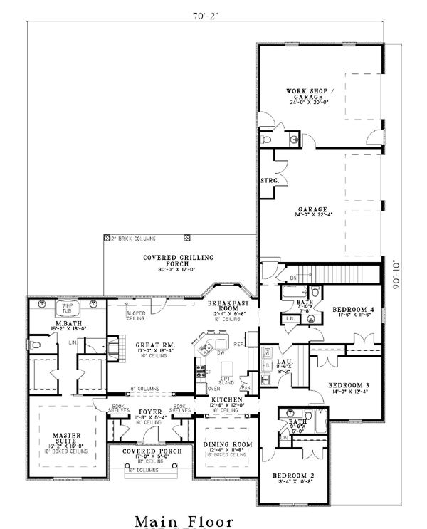House Plan 61039 at FamilyHomePlans.com