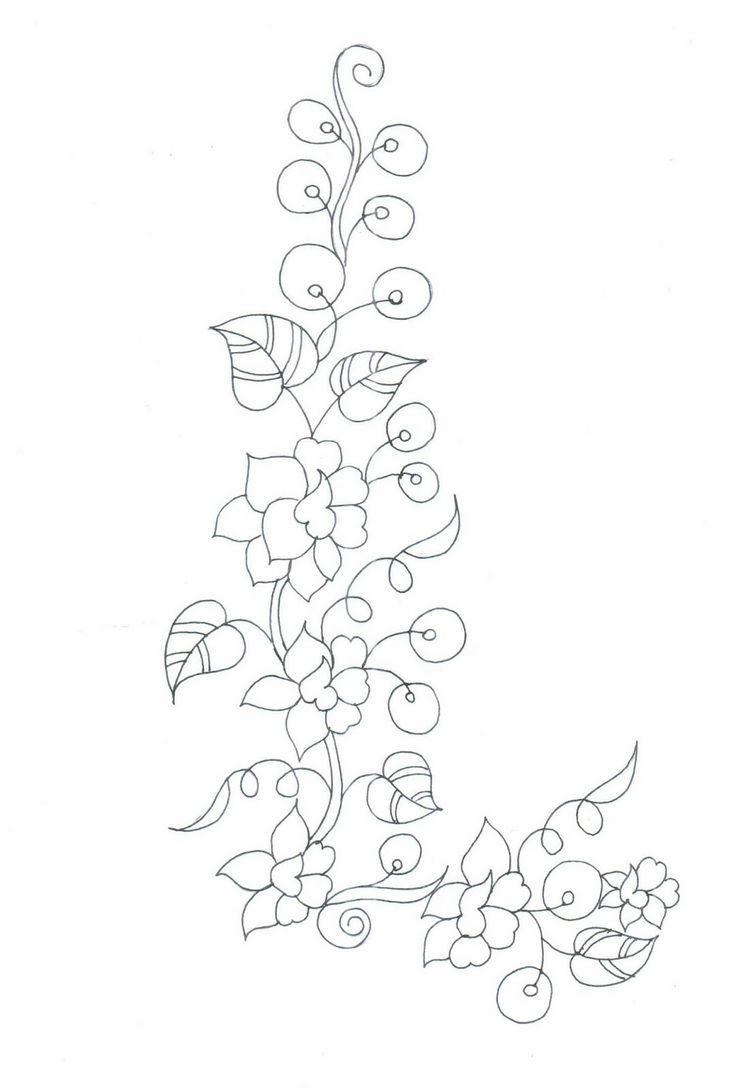 Semi Formal Neck Patch Sketches - Embdesigntube