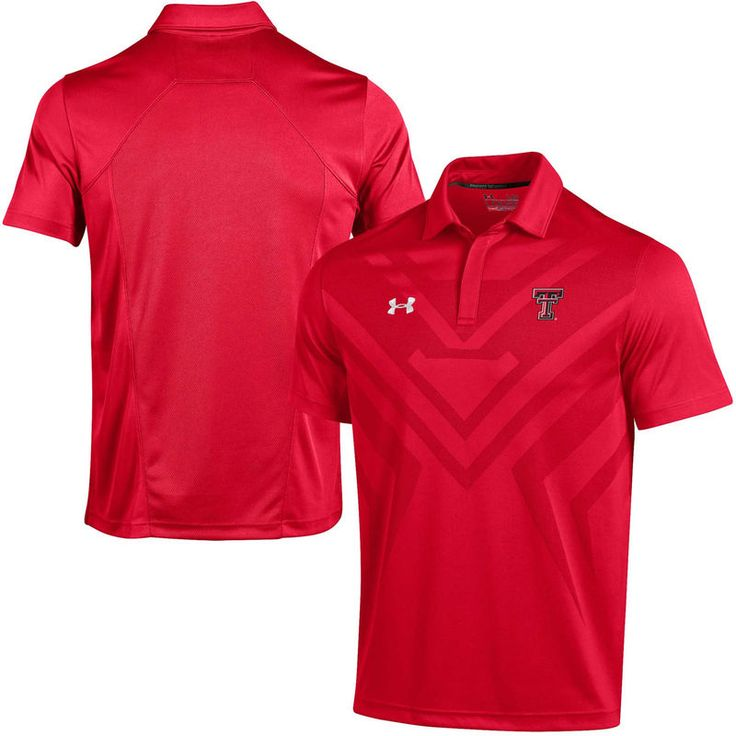 Texas Tech Red Raiders Under Armour Coaches Sideline Scout Polo - Red