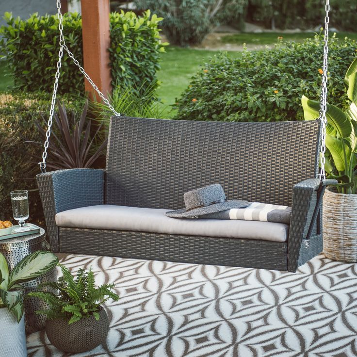 Best 25 Wicker Porch Swing Ideas On Pinterest