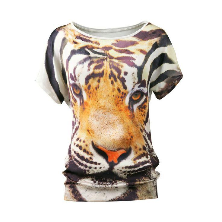 T-shirt met tijgerprint UW MODE
