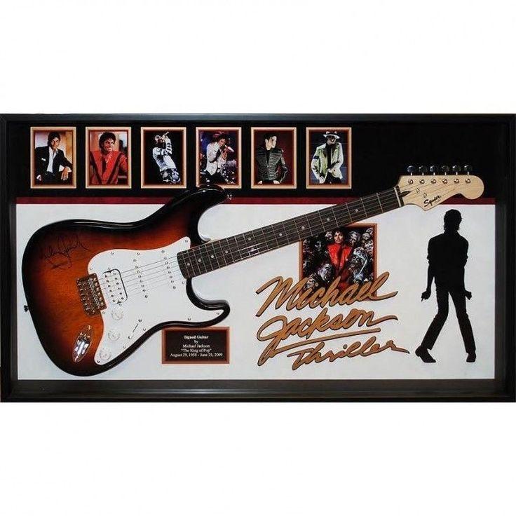 Michael Jackson Autographed Framed Guitar w Cert of Authenticity Man Cave Decor #Luxe